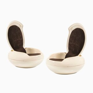 Garden Egg Lounge Chairs by Peter Ghyczy, 1960s, Set of 2