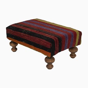 Turkish Striped Footstool