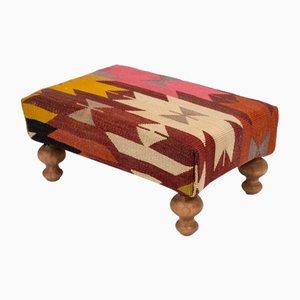 Modern Kilim Upholstery Footstool