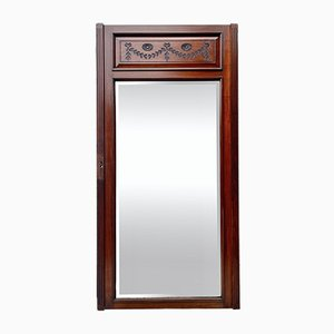 Large Edwardian Mahogany Floor Mirror
