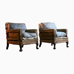 19th Century Ingleby Armchairs from Howard and Sons, 1880s, Set of 2
