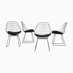 SM05 Wire Dining Chairs by Cees Braakman & Adriaan Dekker for Pastoe, 1960s, Set of 4
