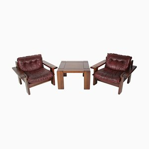 Mid-Century Living Room Set, 1977, Set of 3