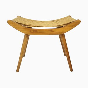 Czechoslovakian Wooden Stool, 1960s
