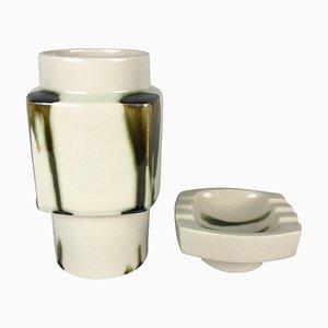 Marion Collection Vase & Aschenbecher Set von Ditmar Urbach, 1981, 2er Set
