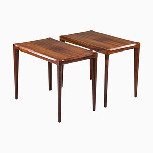Swedish Midcentury Side Tables in Rosewood, 1960s, Set of 2