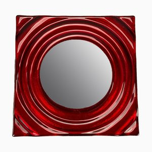 Red Metal Space Age Wall Light from Neuhaus Leuchten, 1960s
