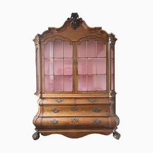 Baroque Solid Wood Display Cabinet