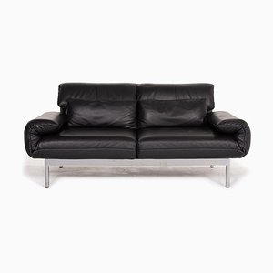 Plura Black Leather 2-Seater Sofa from Rolf Benz