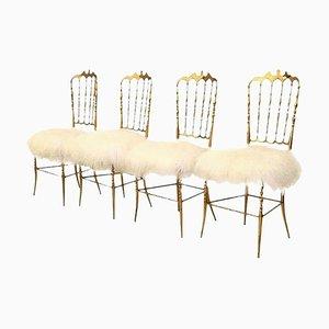 Italian Brass Chair by Chiavari, 1960s
