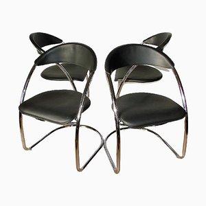 Italian Chairs, 1970s, Set of 4