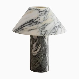 Pillar Lamp in Arabescato Marble by Henry Wilson