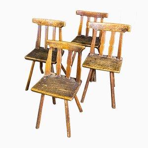 Antique Wooden Chair, 1850s