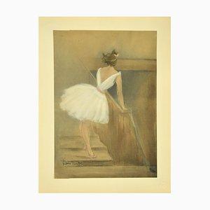 Henri Boutet, Behind the Scenes, Original Lithographie von Henri Boutet, 1897