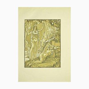 Ferdinand Bac , The Awakening , Original Lithograph by F. Bac , 1922