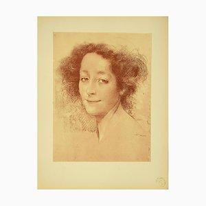 Lucien Levy,Dhurmer , Belle D'Antan , Original Lithograph by L. Levy,Dhurmer , 1897