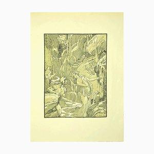 Ferdinand Bac , The Revelation , Original Lithograph by F. Bac , 1922