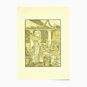 Ferdinand Bac , Baccanale , Original Lithograph by F. Bac , 1922