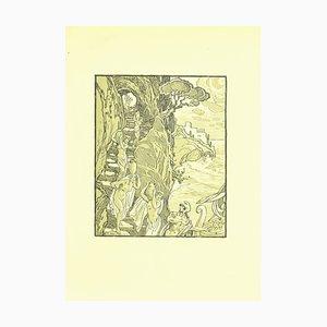 Ferdinand Bac, Maedchen und Matrosen, Original Lithographie von F. Bac, 1922