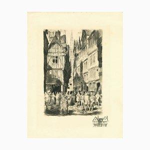 Unbekannt, Antwerpen, Originale Radierung, Frühes 20. Jahrhundert