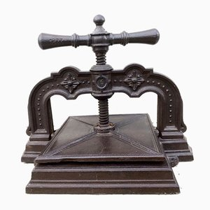 Antique Cast Iron Book Press, 1873