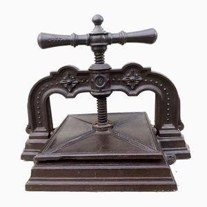 Pressa da libro antica in ghisa, 1873