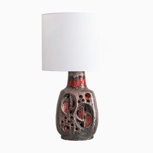 Fat Lava Ceramic Table Lamp from Hustadt Leuchten, 1970s