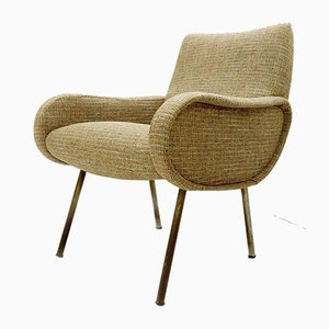 Sessel mit neuem Chanel Bezug von Marco Zanuso, 1960er