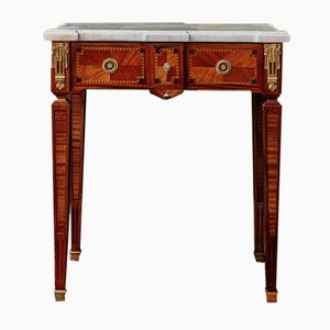 Antique Louis XVI Rosewood Inlaid Console Table