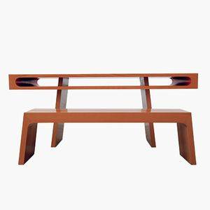 Red Slot Table by Maria Vidali