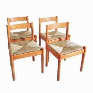 Esszimmerstühle von Vico Magistretti für Cassina, 1960er, 4er Set