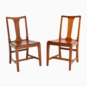 Art Deco Vintage Solid Mahogany Side Chairs, 1397, Set of 2