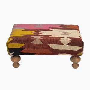Modern Rectangular Kilim Stool from Vintage Pillow Store Contemporary