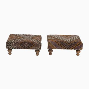 Turkish Footstools from Vintage Pillow Store Contemporary, Set of 2