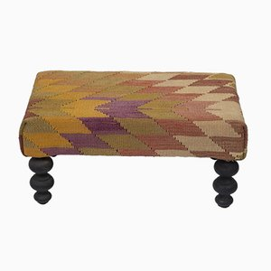 Geometrical Turkish Footstool from Vintage Pillow Store Contemporary