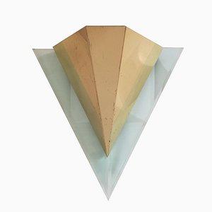 Brass and Plexiglass Sconce, France, 1980s