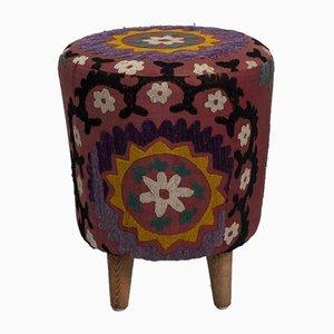 Reposapiés Suzani uzbeko moderno tejido a mano de Vintage Pillow Store Contemporary