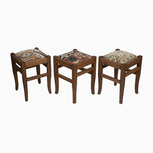 Turkish Rug Stools from Vintage Pillow Store Contemporary, Set of 3