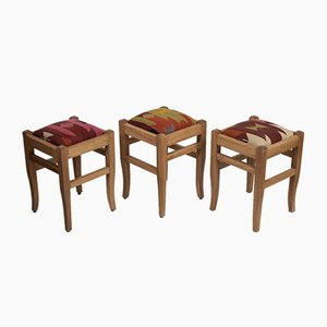 Turkish Kilim Rug Stools from Vintage Pillow Store Contemporary, Set of 3