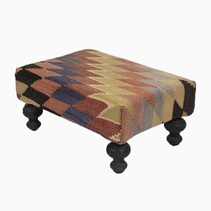 Striped Turkish Footstool from Vintage Pillow Store Contemporary