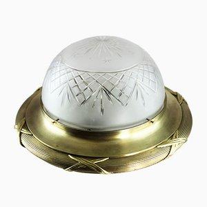 Vintage Art Nouveau Bronze Lamp