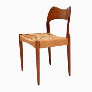 Danish Teak Side Chair by Arne Hovmand-Olsen for Mogens Kold, 1960s