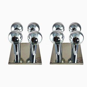 Vintage Sputnik Wandlampen von Motoko Ishii für Staff, 2er Set