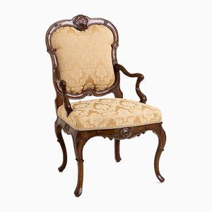 Louis Quinze Armchair, Mid-18th-Century