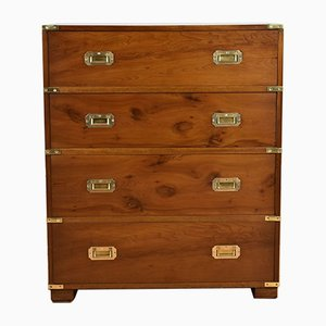 Yew Wood Campaign Style Desk