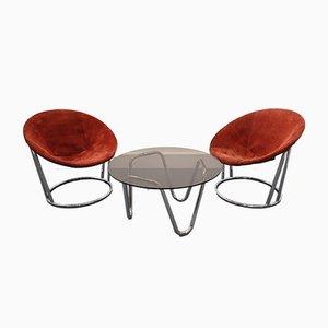 Couchtisch & Stühle Set von E. Lusch für Lusch & Co., 1960er, 3er Set