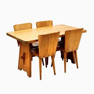 Five-Piece Dining Set by Göran Malmvall for Karl Andersson & Söner, 1950s, Set of 5