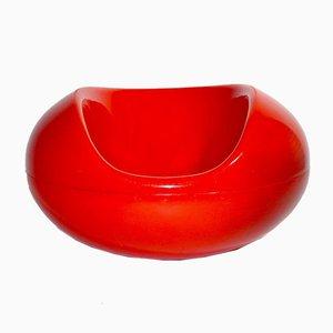Roter Vintage Fiberglas Pastil Schaukelstuhl von Eero Aarnio für Asko, 1960er