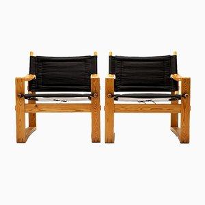 Danish Safari Armchairs by Børge Jensen for Bernstorffsminde Møbelfabrik, 1960s, Set of 2