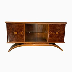 Art Deco Maple Veneer Sideboard with Showcase, 1930s